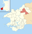 Pembrokeshire UK wards - Crymych locator.png
