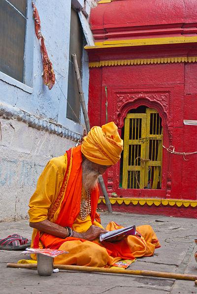 Läsande yogi