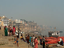 People on a ghat in Varanasi.jpg