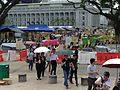 People queueing at the Padang to pay respects to Lee Kuan Yew lying in state in Parliament House, Singapore - 20150327-02.jpg