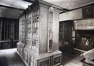 Pepys Library - Library interior in 1890s