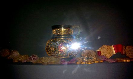 Personal items of Shah Ismail I captured by Selim I during battle of Chaldiran. Topkapi Museum. Istanbul Personal items of Shah Ismail I captured bu Selim I during Chaldiran Battle.jpg