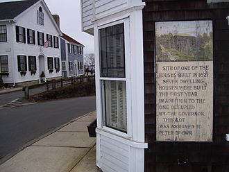 Peter Browne (Mayflower passenger) - Peter Browne's home site on Leyden Street in Plymouth, Massachusetts