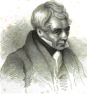 Peter Nicholson (architect) - Engraved portrait of Nicholson from the frontispiece of his Guide to Railway Masonry
