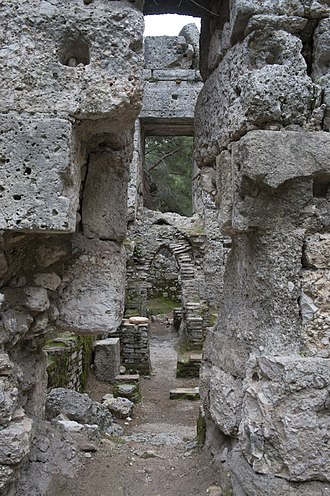 Phaselis - Image: Phaselis Big Bath 4735