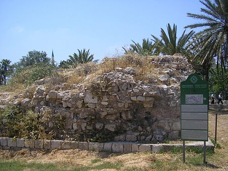 The remains of the internal fortification line erected by Farhi and De-Phelipoux within the walls of Acre, during Napoleon's siege, May 1799. Phelipoux.jpg