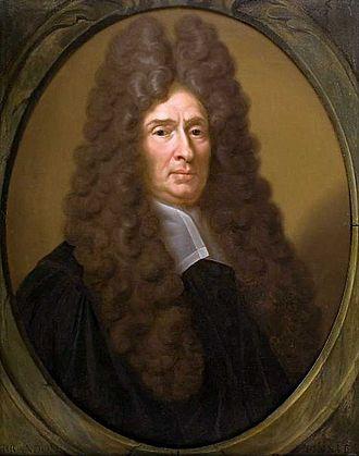 Philipp Reinhard Vitriarius - Portrait of Philipp Reinhard Vitriarius in Leiden's rector's hall, by Jan Hendrik Brandon