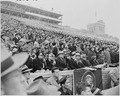 Photograph of President Truman and Mrs. Truman with other dignitaries, watching the Army-Navy football game in... - NARA - 200251.tif