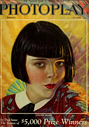 Colleen Moore - Photoplay magazine cover, 1926, featuring Colleen Moore.