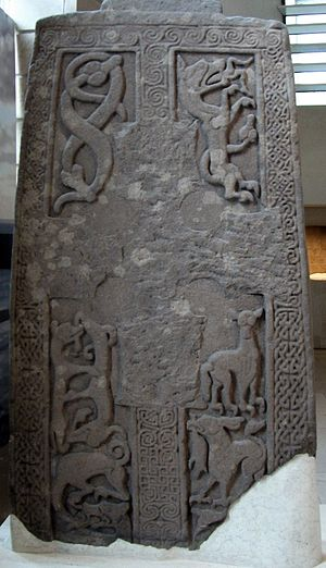Woodwrae Stone - Image: Pictish Stones in the Museum of Scotland DSCF6249