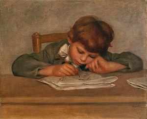 Pierre-Auguste Renoir - Jean Renoir dessinant