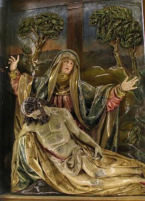 Pietà (Gregorio Fernández) - Image: Pietá. Convento del Carmen (Burgos). Gregorio Fernández