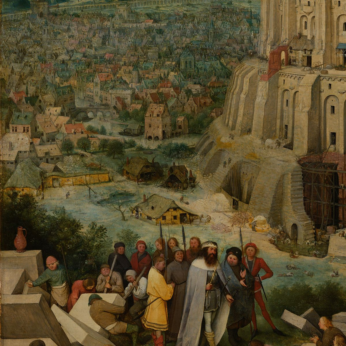 analysis of the tower of babel paintings The parable of the blind by pieter bruegel the elder an example of 16th century protestant reformation art the parable of the blind (1568)  both in the kunsthistoriches museum, vienna, this late work of religious art by pieter bruegel the elder relies on a diagonal spatial arrangement  • tower of babel (1563) • for more about 16th.