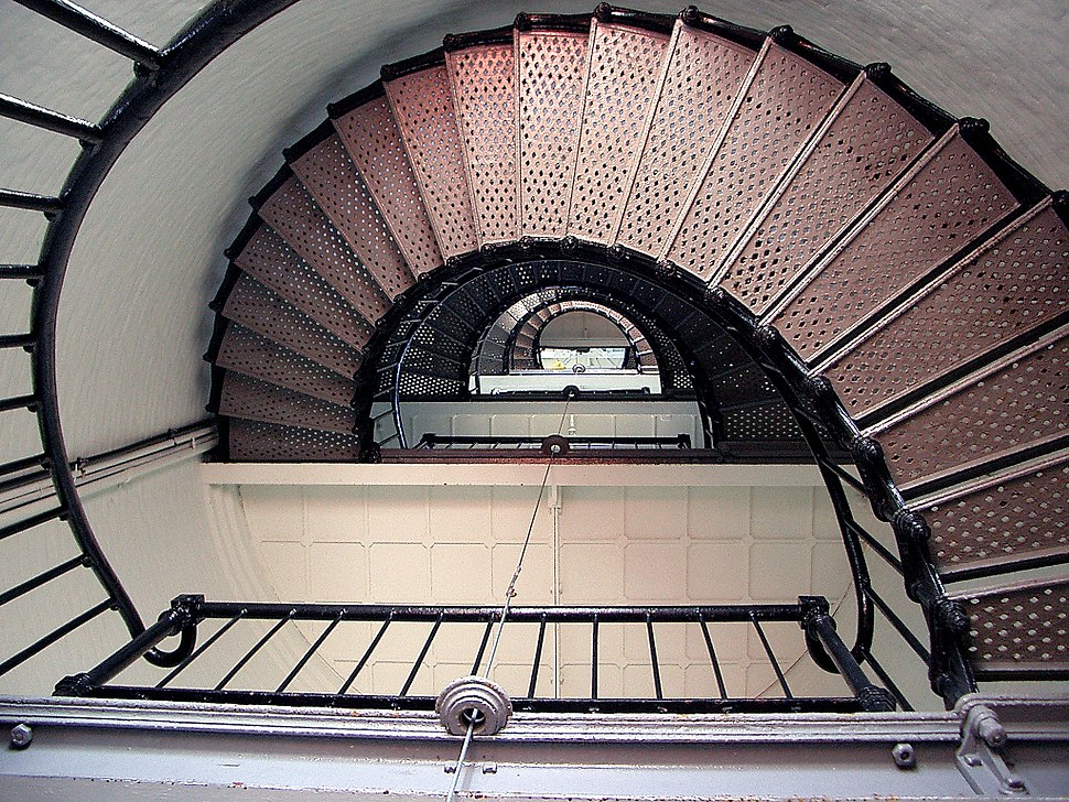 Pigeon Point Light Station Stairs in the Tower