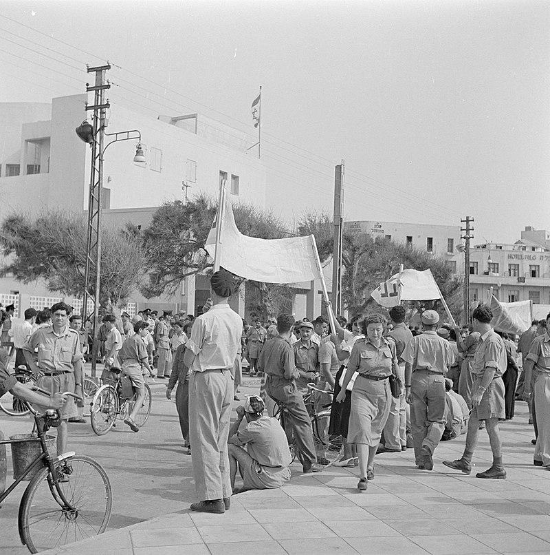 הפגנה מול הכנסת 1948