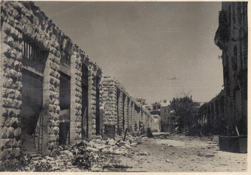 המרכז המסחרי בשכונת ממילא ירושלים מלחמת העצמאות