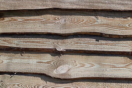 Pine plank fence
