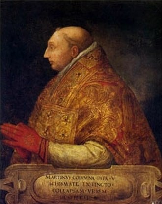 Pope Martin V - Image: Pisanello, copia da Ritratto di Martino V (Galleria Colonna)
