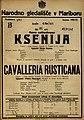 Plakat za predstavi Ksenija in Cavalleria Rusticana v Narodnem gledališču v Mariboru 4. marca 1925.jpg
