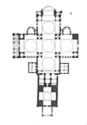 Floor plan of Périgueux Cathedral