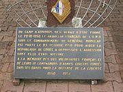 Plaque commémorative du bataillon de Corée