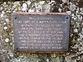 Plaque next to the water pumps in Whitwell.JPG