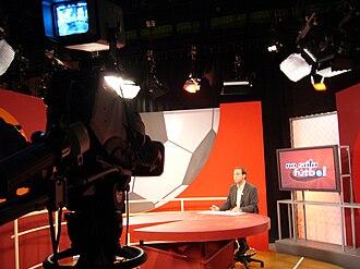 Televisión del Principado de Asturias - A television studio for sporting program No sólo fútbol.