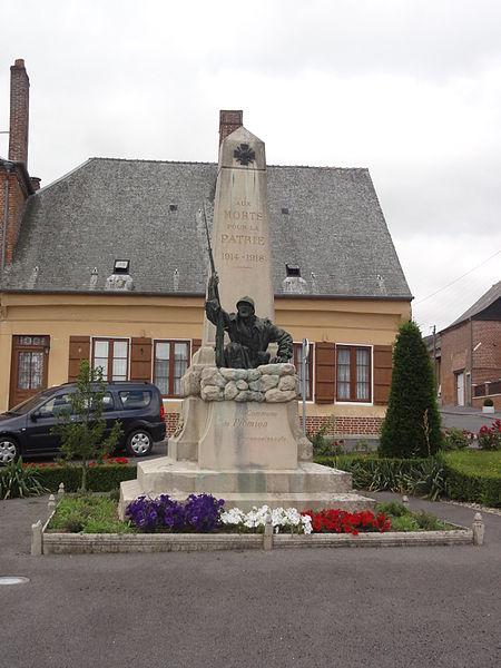 Plomion (Aisne) monument aux morts