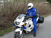Police motorcycle in Finland.JPG