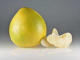 Pamplemousse et quartiers de Citrus maxima. (définition réelle 5333×4000)