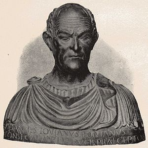 "1503 in poetry - Giovanni Pontano, also known as ""Iovanus Pontanus"""