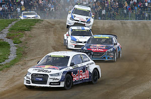 2014 World RX of Belgium - Pontus Tidemand, Timmy Hansen, Toomas Heikkinen and OC Veiby