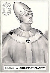 John XIII, historicizing illustration from the 19th century
