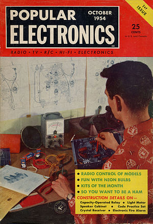 Popular Electronics - The cover of the premiere issue of Popular Electronics magazine