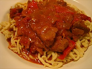 English: Hungarian Pork Goulash