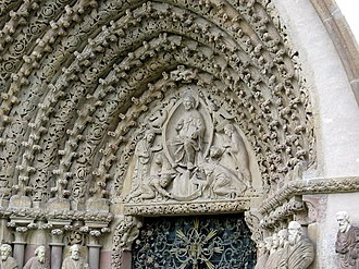 Czech Gothic architecture - Portal of the church of Porta coeli Convent in Tišnov near Brno, Moravia, 1230s.