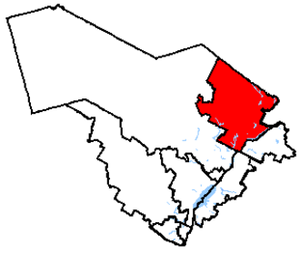 Portneuf—Jacques-Cartier - Portneuf—Jacques-Cartier in relation to other Quebec federal electoral districts