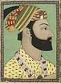Portrait of Ahmad-Shah Durrani. Mughal miniature. ca. 1757, Bibliothèque nationale de France.jpg