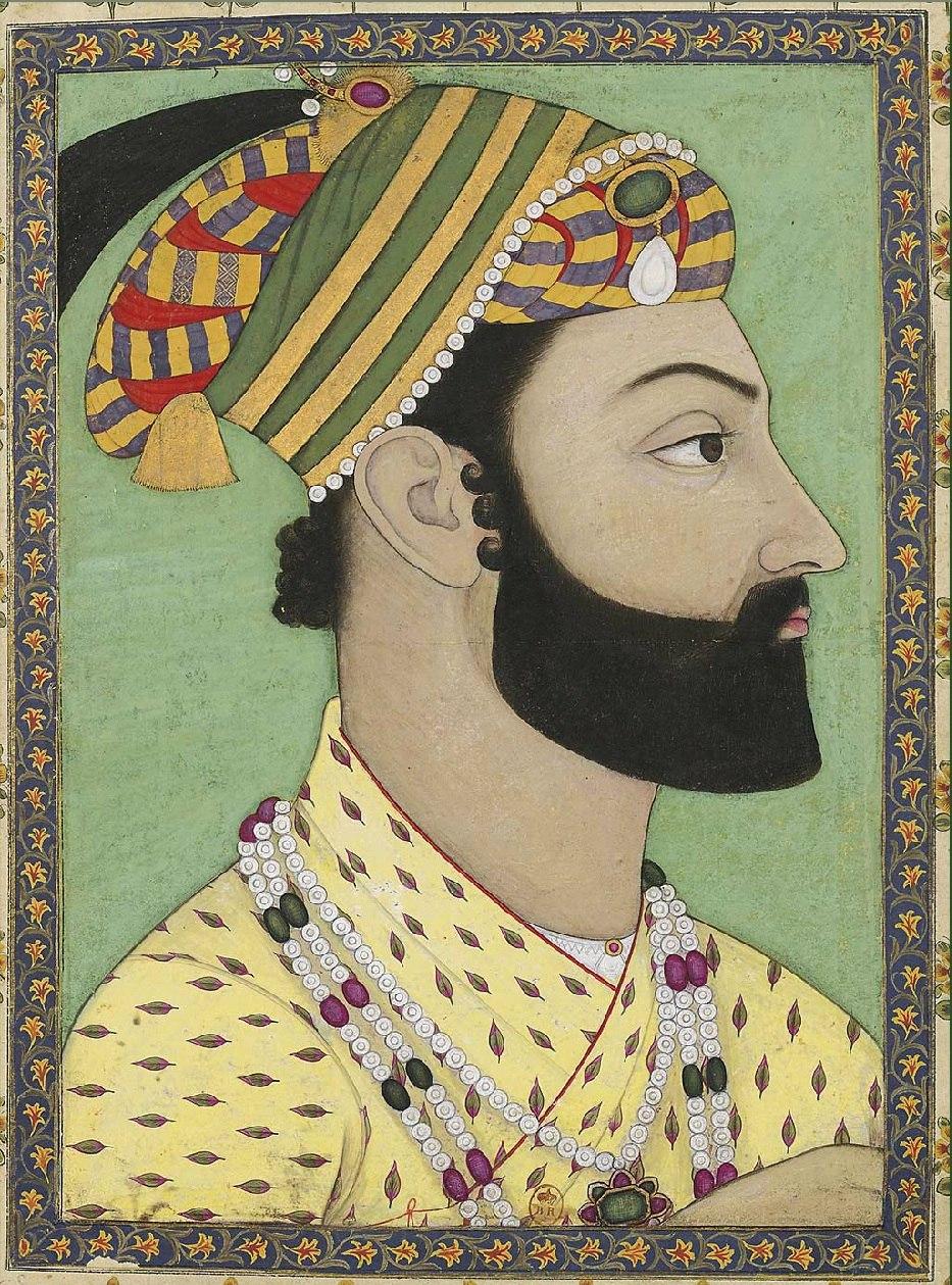 Portrait of Ahmad-Shah Durrani. Mughal miniature. ca. 1757, Bibliothèque nationale de France