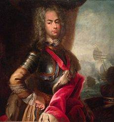 Portrait of King Joao V and the Battle of Cape Matapan.JPG