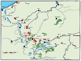 Flanders Campaign - Positions of the armies at the start of the 1794 campaign