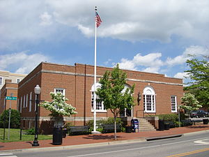 Blacksburg, Virginia - The downtown Post Office in Blacksburg