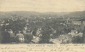 Winsted, Connecticut - Image: Postcard Winsted CT View From Hubbard Street 1906