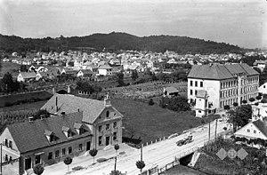 Glince - Image: Postcard of Ljubljana, Glince (2)