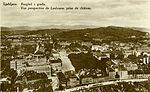 Postcard of Ljubljana from Ljubljana Castle 1928.jpg