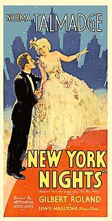 <i>New York Nights</i> 1929 film by Lewis Milestone
