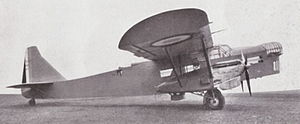 Potez 540 - Aircraft Potez 54 fitted with 2 Hispano-Suiza 650 HP engines