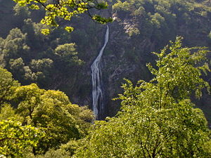 Powerscourt Waterfall, near Enniskerry, County...