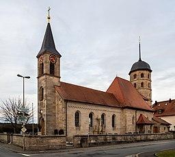 Catholic parish church Mariä Opferung in Poxdorf near Forchheim
