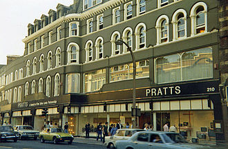 Streatham - Pratt's department store in summer 1978. The store closed down in 1990 and the building was demolished in 1996.